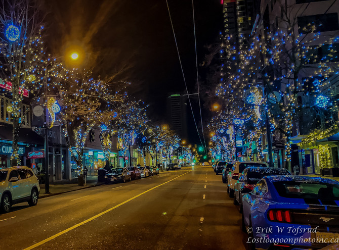 Midnight scenery, Westend,Vancouver, BC, Canada