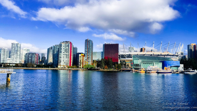 Scenic views from Olympic Village 1, Vancouver, BC, Canada