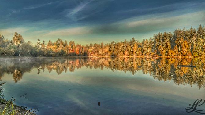 Lost Lagoon, Mirror Lake, Vancouver, BC, Canada