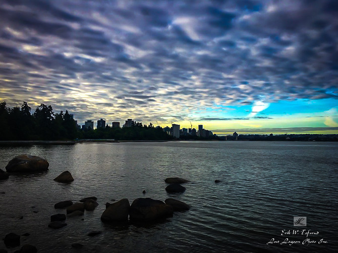 My morning walk views, downtown skyline, English Bay, Vancouver, BC, Canada #27