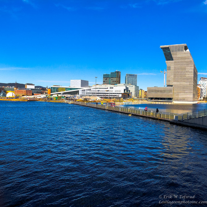 Walk along historic Akerselva, Oslo, Norway