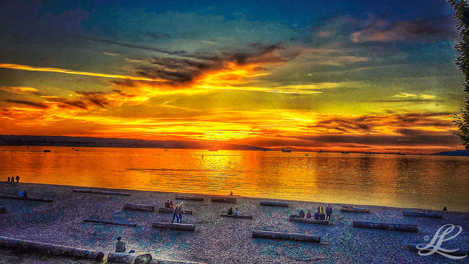 English Bay Beach, Vancouver, BC, Canada