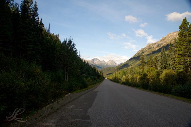 Alaska Highway between Watson Lake, BC and Whitehorse, YT
