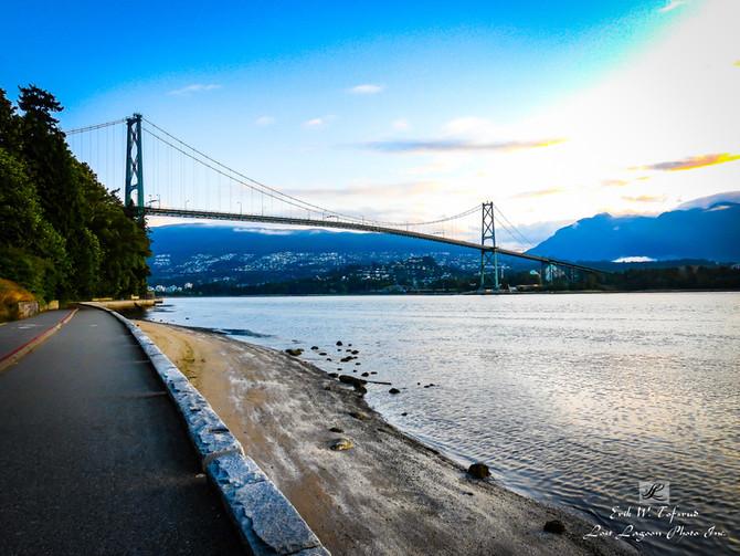 My morning walk views, Lions Gate Bridge, Seawall, Vancouver, BC, Canada #29