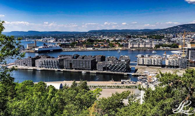 The new Oslo Harbor, Oslo, Norway