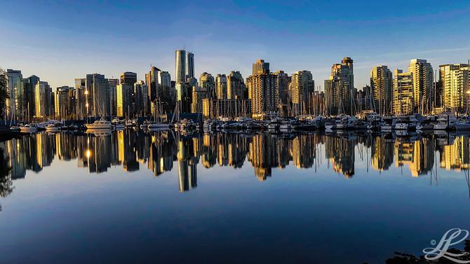 Peak reflections, Vancouver, BC