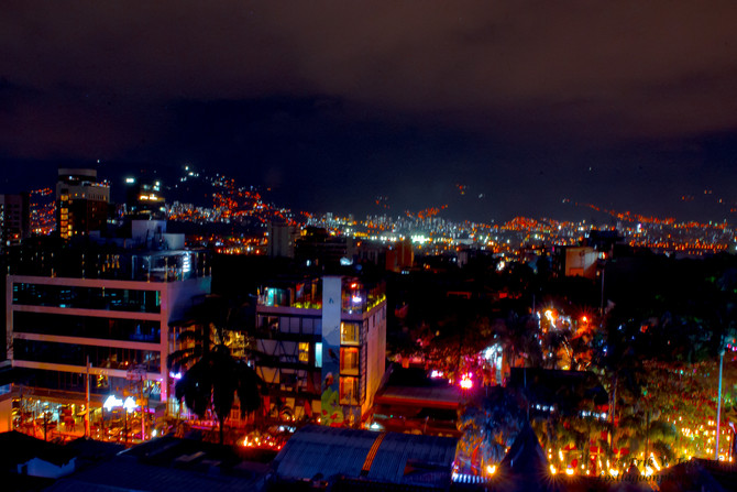 View from Epic Boutique Hotel, Pablado, Medellin, Colombia