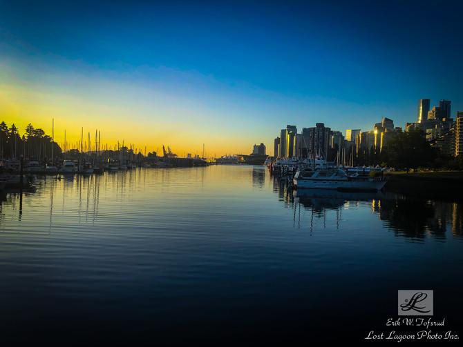 My morning walk views, Coal Harbour, Seawall, Vancouver, BC, Canada #