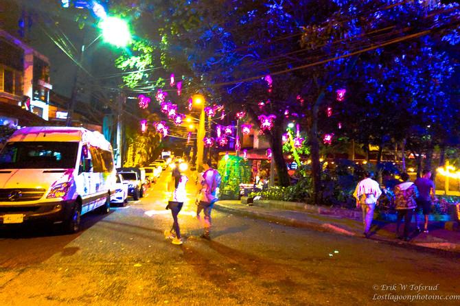 Fist night, Medellin, Colombia