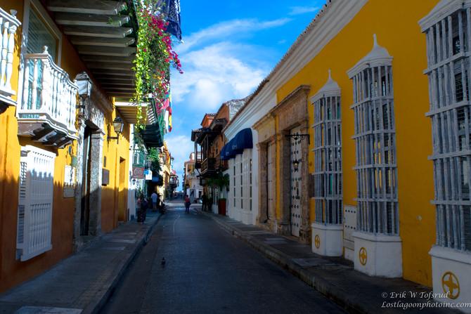 Street walk in Old Cartagena, Colombia