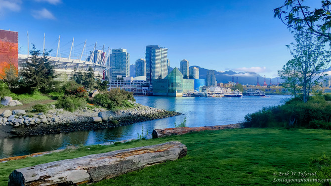 Scenic views from Olympic Village 3, Vancouver, BC, Canada