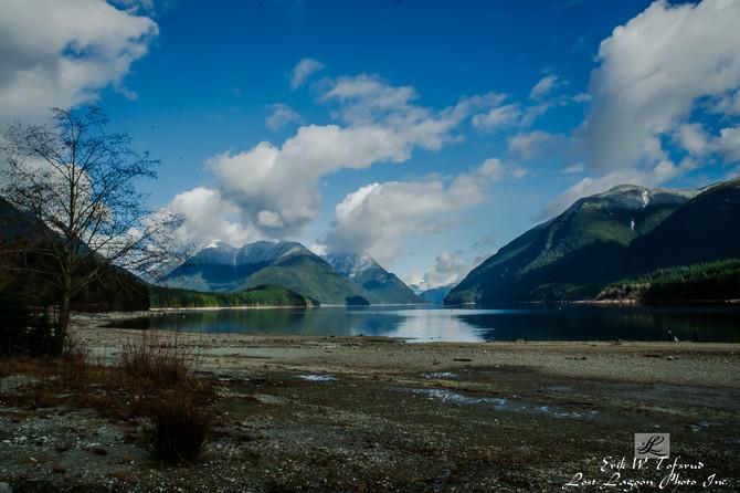 Snowy Mountains, Alouette Lake, BC, Canada