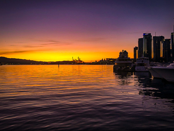 Sunrise at Inner Harbour, Vancouver, BC, Canada
