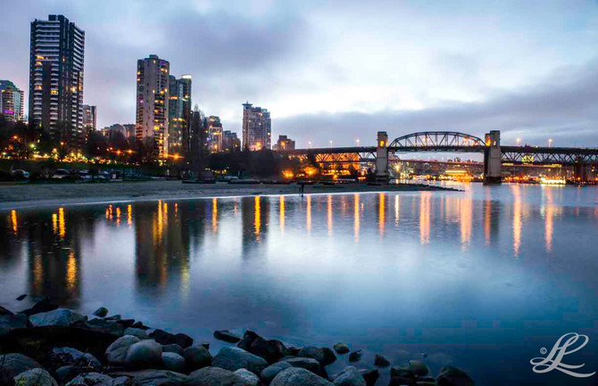 English Bay, Burrard Bridge, Vancouver, BC