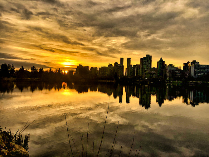 Reflections and silhouettes, Lost Lagoon, Vancouver, BC, Canada