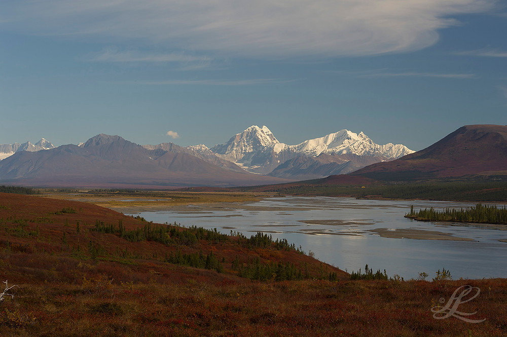 View of largest mountain, Mt. Deborah