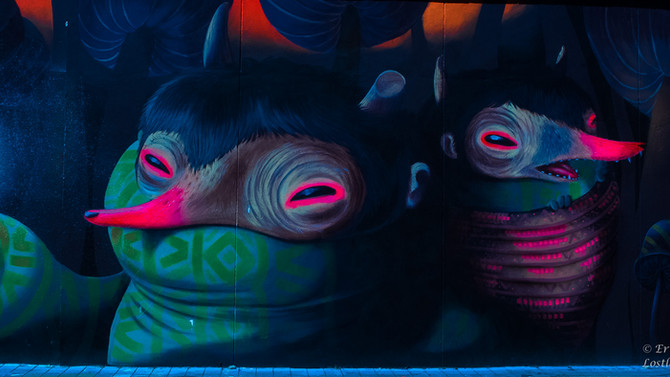 Wall painting, what Medellin is known for.