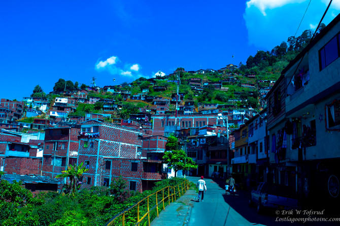 View from the mountainsides of Valle de Aburra, Colombia