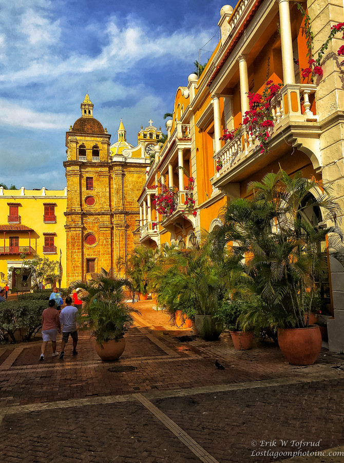 UNESCO World Heritage Site, Old  Wall and Old Town, Cartagena, Colombia