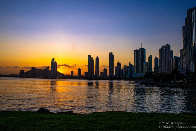 Sunset and Sunrise, Panama City, Panama