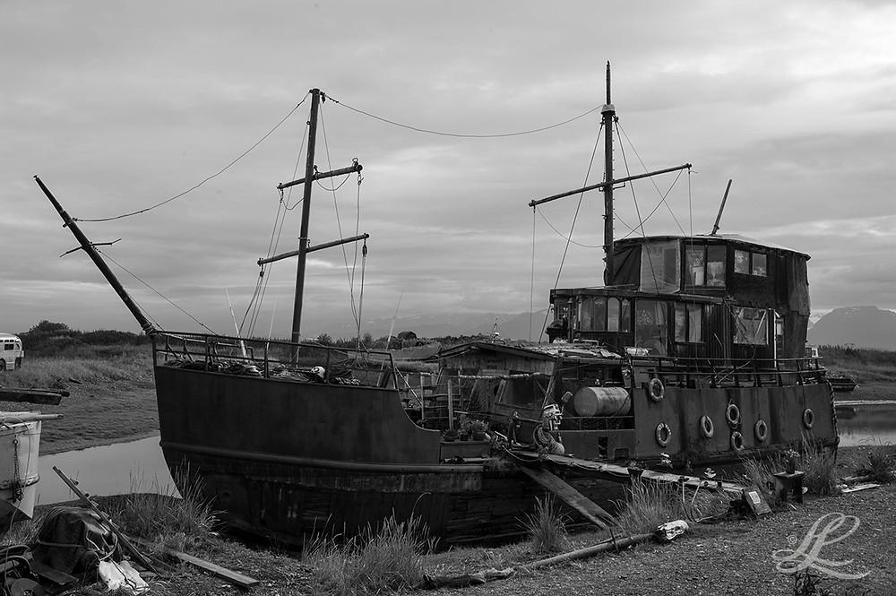Dry docked boat, Homer, AK