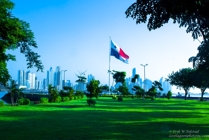 City skyline early am, Panama City, Panama