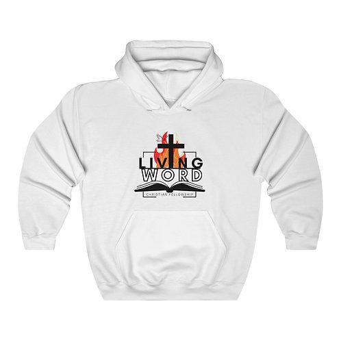 White Living Word Unisex Heavy Blend™ Hooded Sweatshirt