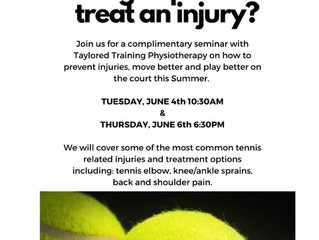 Preventing and Treating Tennis Injuries