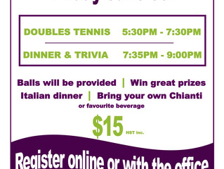 Tennis & Trivia Social - June 9th!