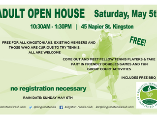Adult Open House - May 5th, 10:30 - 1:30
