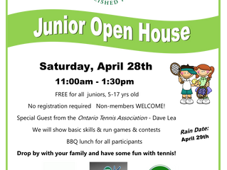 Junior Open House - April 28th, 11-1:30