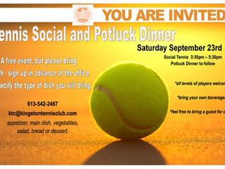 KTC Potluck Social - Saturday, September 23
