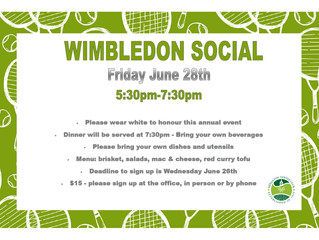 Wimbledon Social - Friday June 28