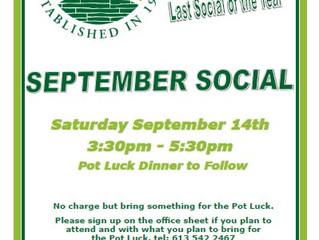 September 14 - Saturday Social