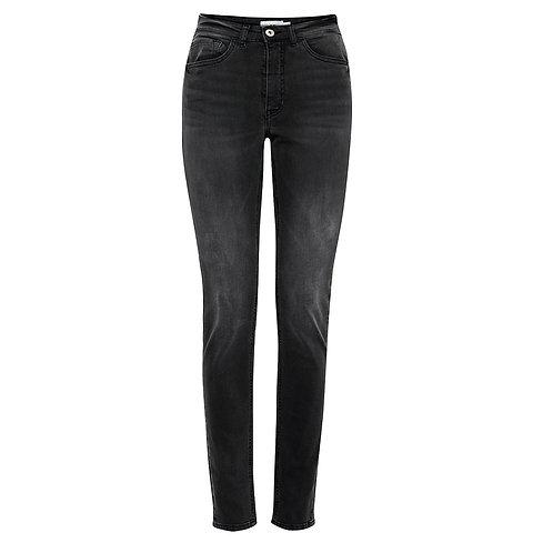 Jeans negro desgastado