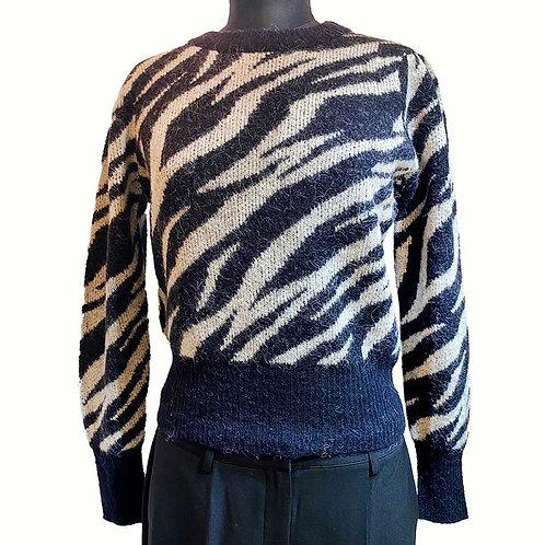 Jersey jacquard zebra