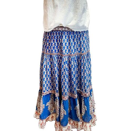 Falda midi print