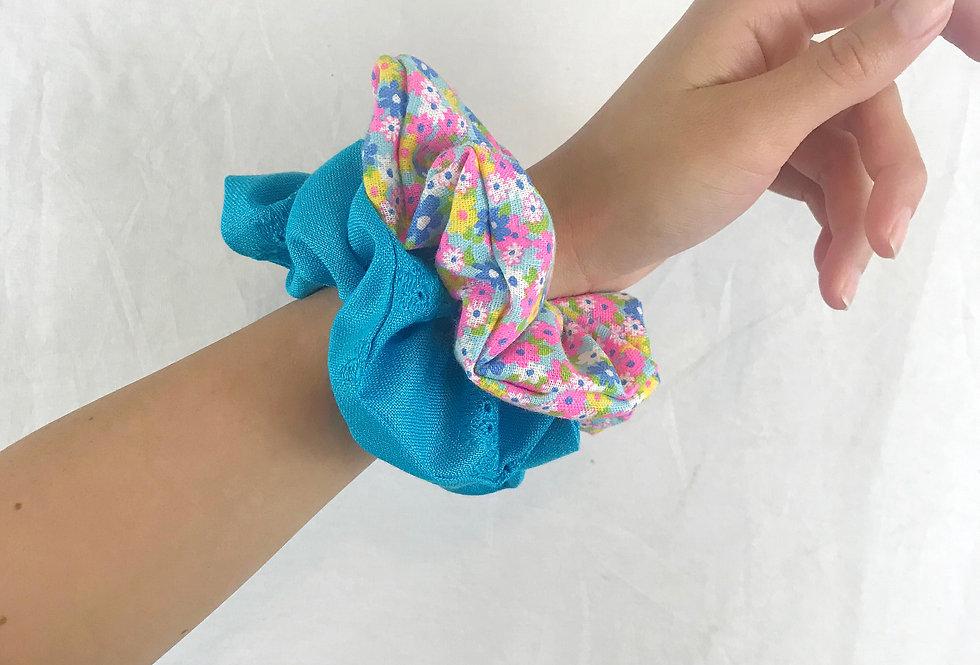 Vintage Floral Scrunchie Bundle