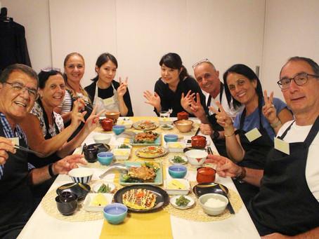 Okonomiyaki and Chicken Teriyaki Course! (Japanese Cooking Class in Tokyo)