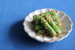 Green Beans dressed with sesame seed