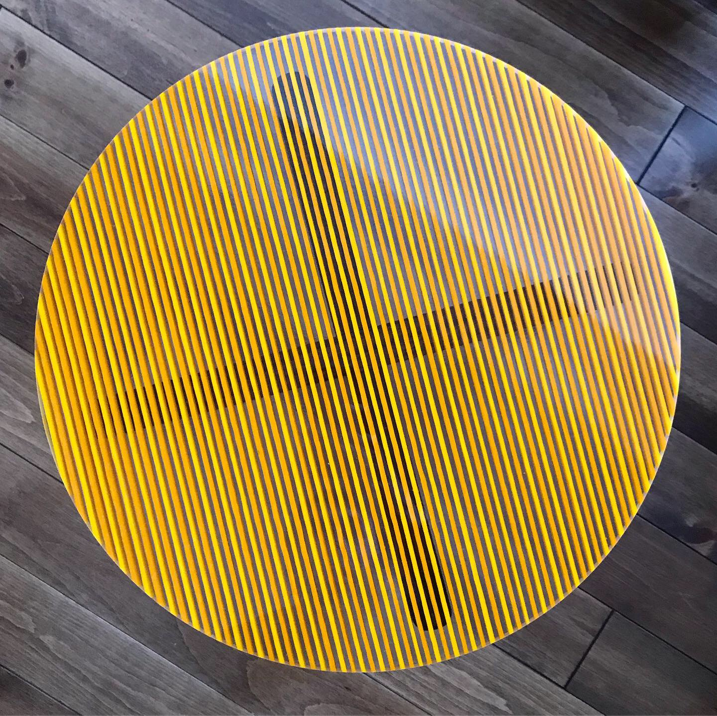 Yellow and Orange Striped Table