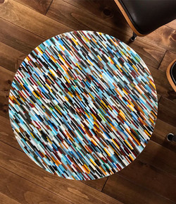 "17"" Round Custom Side Table"