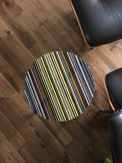 """17"""" Striped Round Table"""
