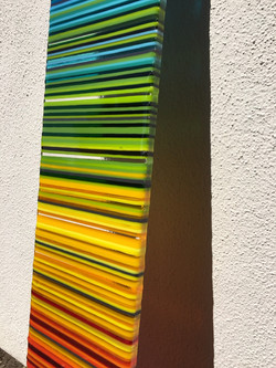 Rainbow panel detail.