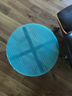 Turquoise Striped Table