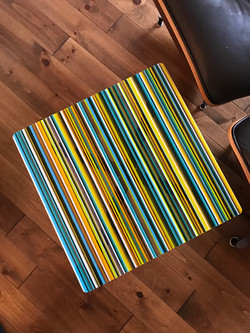 Custom Striped Table