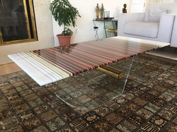 Red, Amber and White Coffee Table