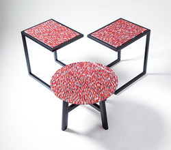 "Set of 3 Custom ""Mosaic"" Tables"