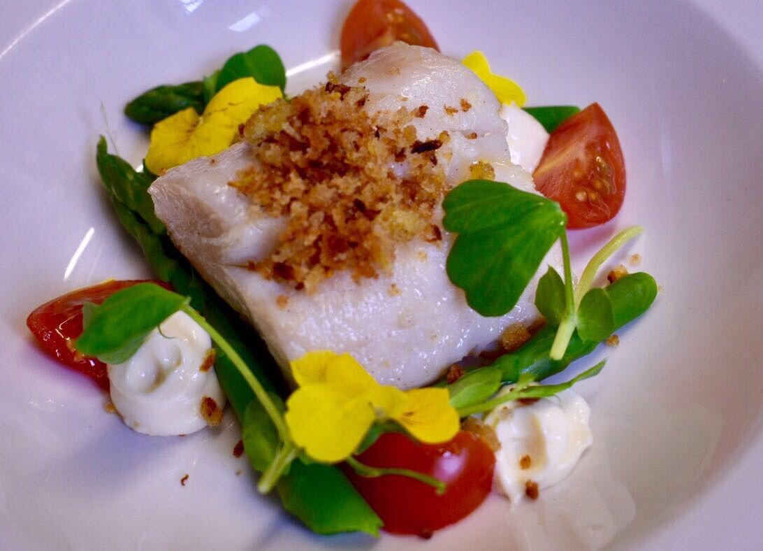 Pan roasted hake