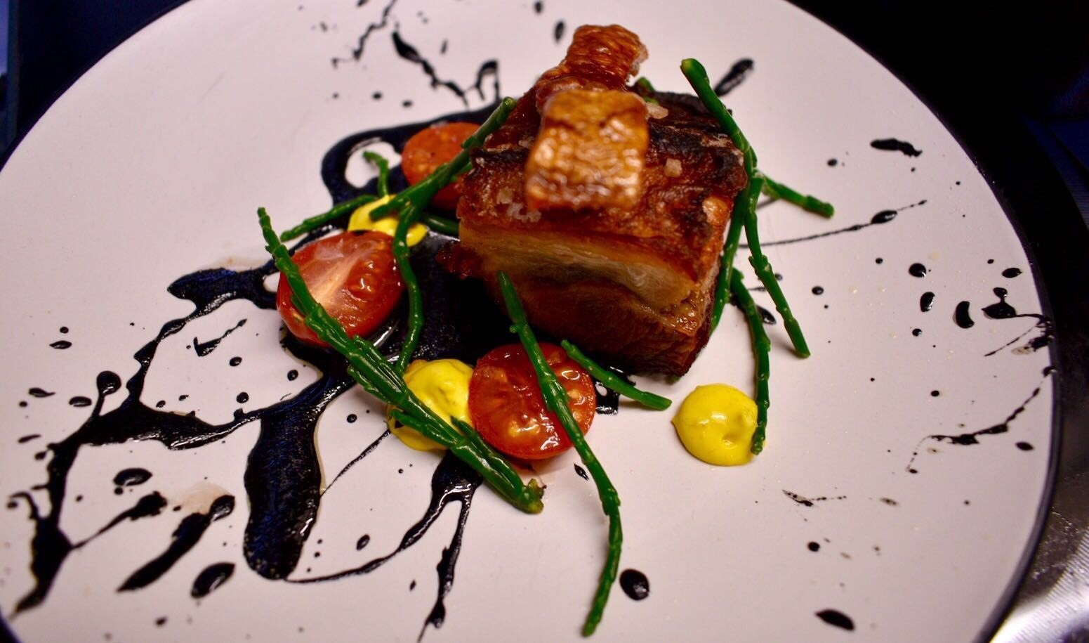 Slow braised pork belly